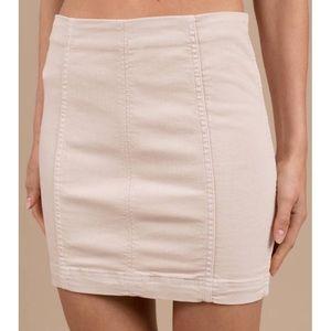 Free People Modern Femme Stone Denim Mini Skirt